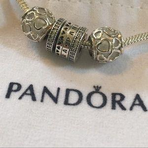 NWOT pandora encased in love pearl white charm